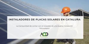 Instaladores placas solares Barcelona