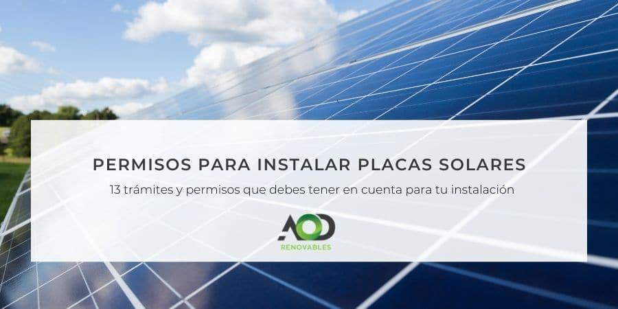 Permisos para instalar placas solares