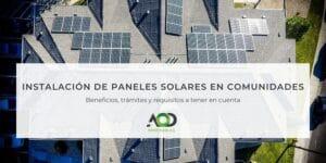 paneles solares comunidades vecinos